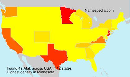 Surname Atak in USA