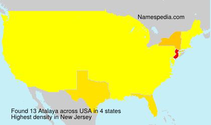 Surname Atalaya in USA
