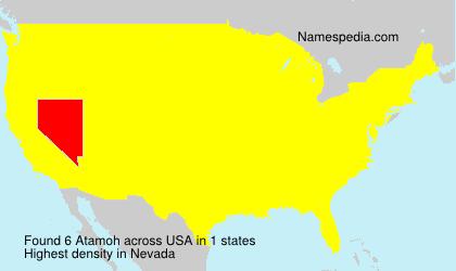 Surname Atamoh in USA