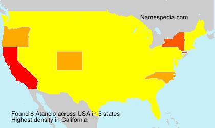 Surname Atancio in USA
