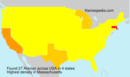 Surname Atanian in USA