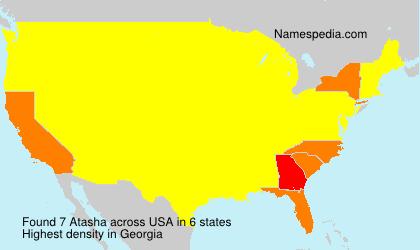 Familiennamen Atasha - USA