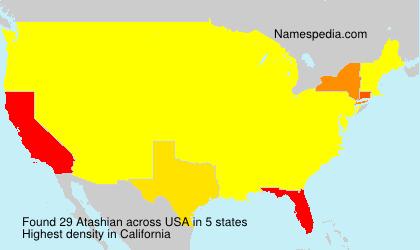 Familiennamen Atashian - USA