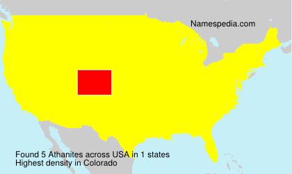 Surname Athanites in USA