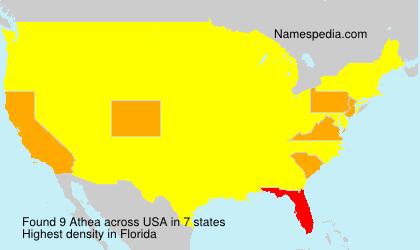 Surname Athea in USA