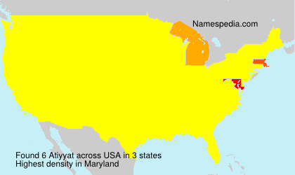 Surname Atiyyat in USA
