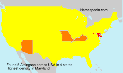 Surname Atkingson in USA
