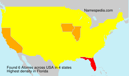 Surname Atorres in USA