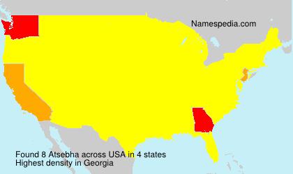 Surname Atsebha in USA