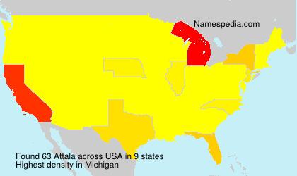 Surname Attala in USA