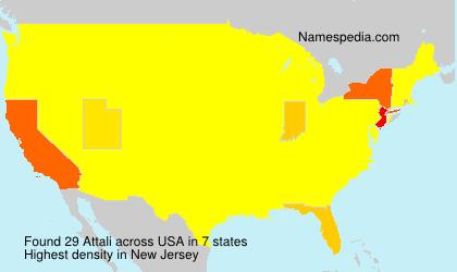 Surname Attali in USA