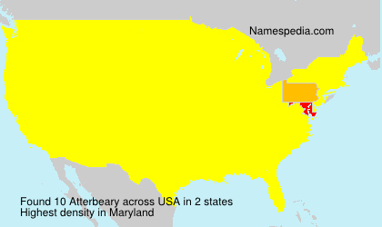 Surname Atterbeary in USA