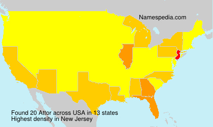 Surname Attor in USA