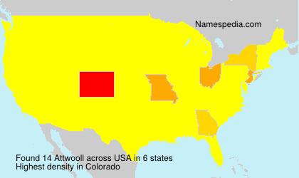Surname Attwooll in USA