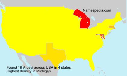 Familiennamen Atueyi - USA