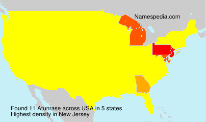 Surname Atunrase in USA
