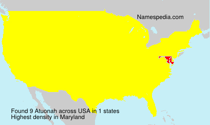 Surname Atuonah in USA