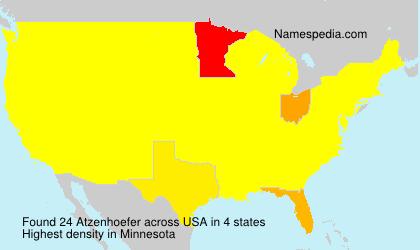 Surname Atzenhoefer in USA