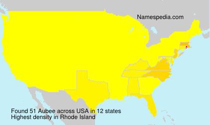 Familiennamen Aubee - USA