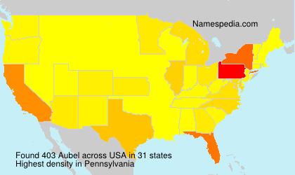 Familiennamen Aubel - USA