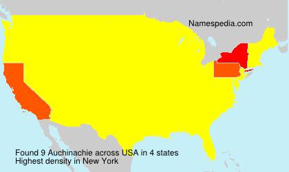 Surname Auchinachie in USA