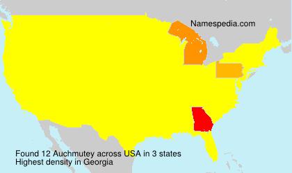 Familiennamen Auchmutey - USA