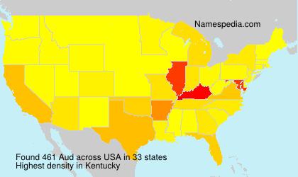 Familiennamen Aud - USA
