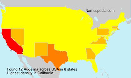 Familiennamen Audelina - USA