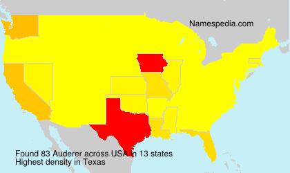 Surname Auderer in USA