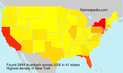 Surname Auerbach in USA