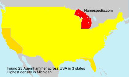 Surname Auernhammer in USA