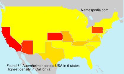 Surname Auernheimer in USA