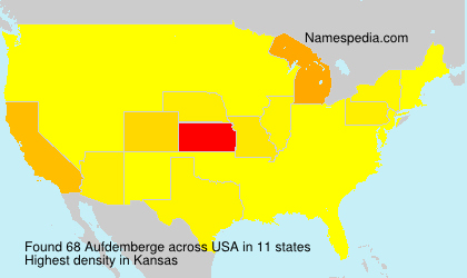 Surname Aufdemberge in USA