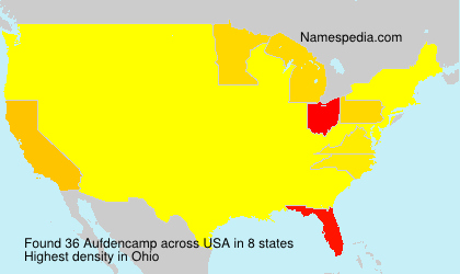 Surname Aufdencamp in USA
