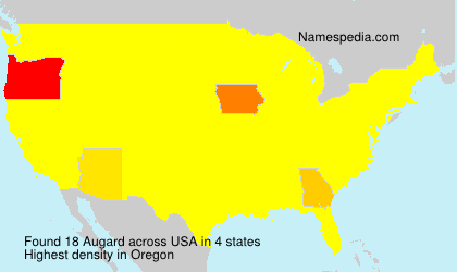 Surname Augard in USA