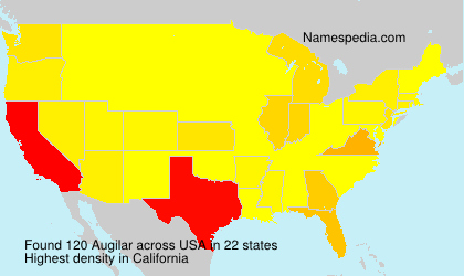 Surname Augilar in USA