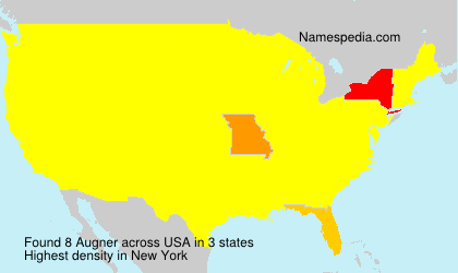 Surname Augner in USA
