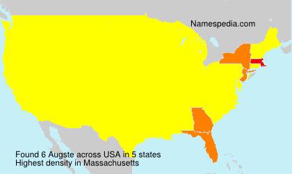Familiennamen Augste - USA