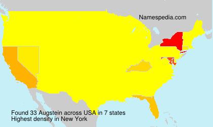 Familiennamen Augstein - USA