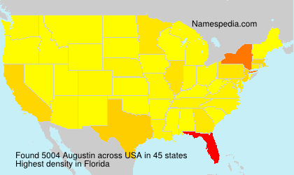 Surname Augustin in USA