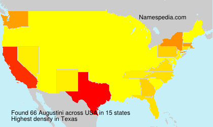 Surname Augustini in USA