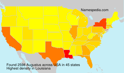 Surname Augustus in USA