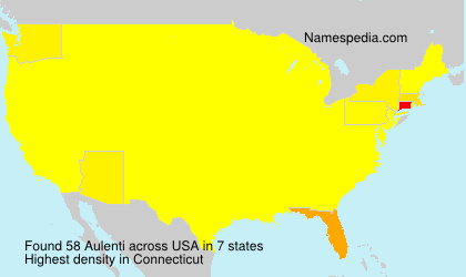 Surname Aulenti in USA