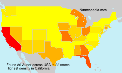 Surname Auner in USA