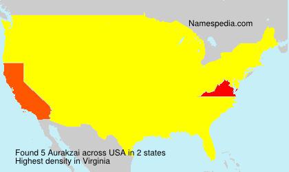 Familiennamen Aurakzai - USA
