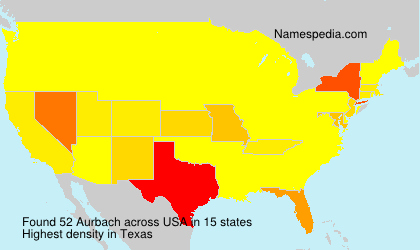 Surname Aurbach in USA