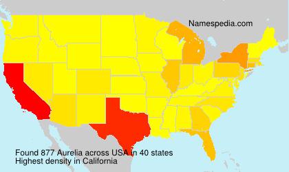 Familiennamen Aurelia - USA