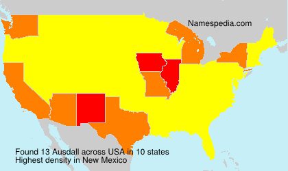 Familiennamen Ausdall - USA