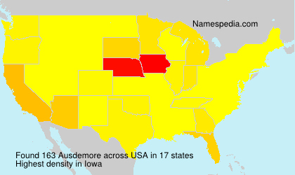 Surname Ausdemore in USA