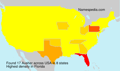 Surname Ausher in USA